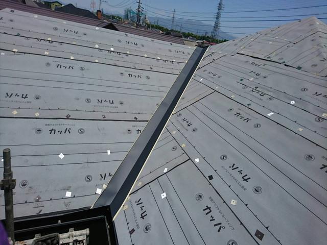 屋根カバー工法 谷