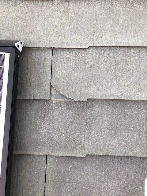 現地調査 屋根 化粧スレート 劣化 割れ 欠け