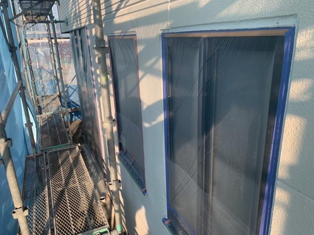 外壁塗装 養生 窓