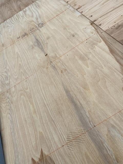 屋根葺き替え工事 野地板
