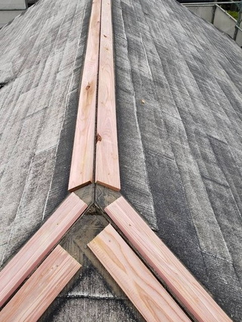 棟板金取り直し 新設貫板