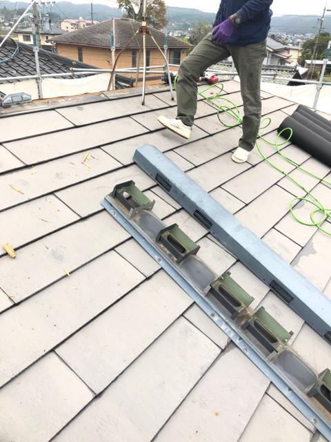 屋根カバー工法 換気棟撤去