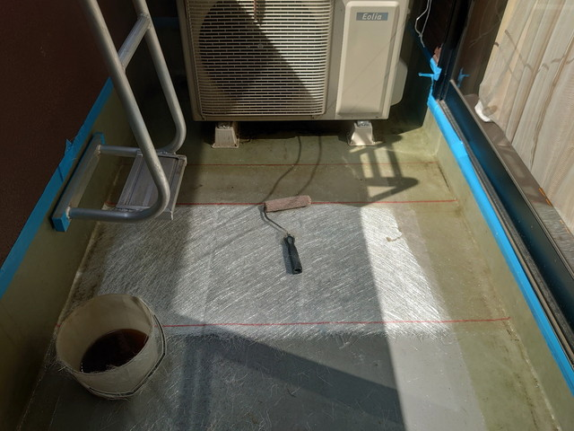 ガラス繊維マット敷き