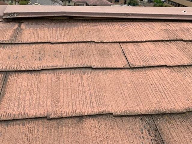 現地調査 屋根 棟板金 劣化