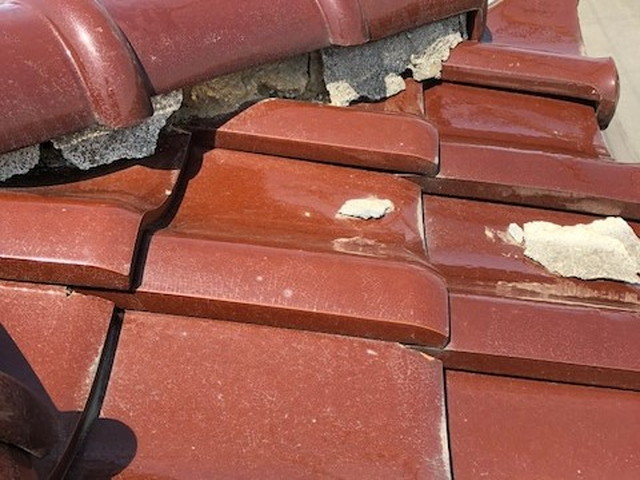 屋根 陶器瓦 棟