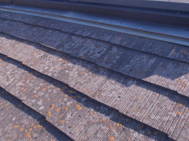 屋根材色褪せ