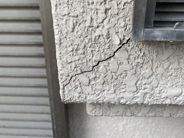 現地調査 外壁 モルタル 劣化
