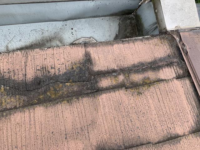 現地調査 屋根 化粧スレート 劣化