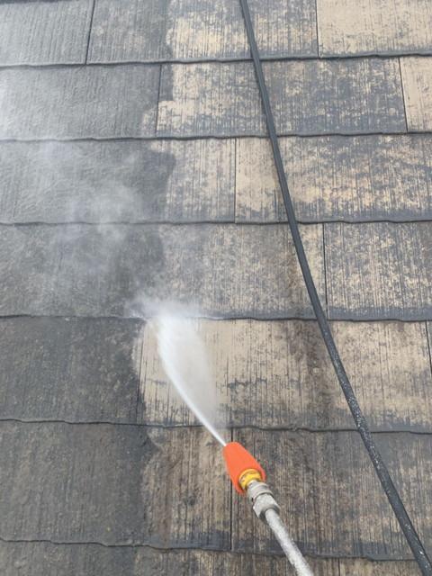 屋根塗装工事 屋根 高圧洗浄