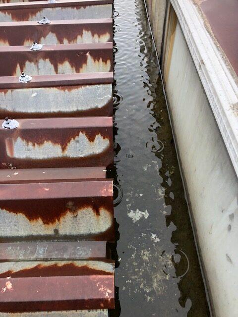 折半屋根 箱樋