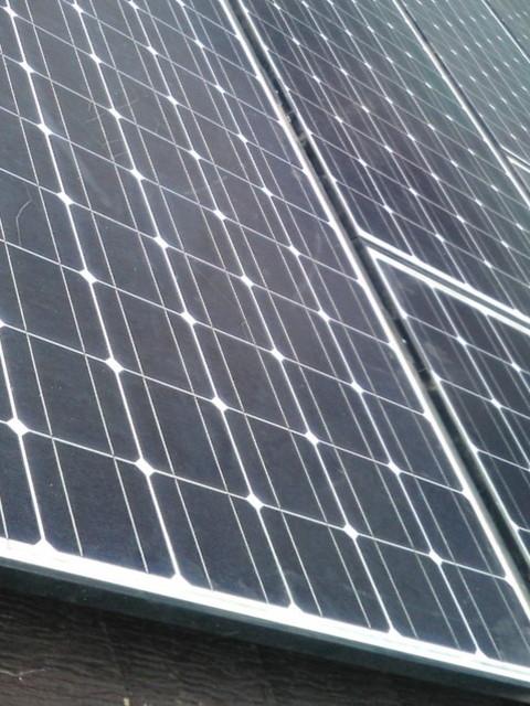 既存の太陽光パネルが設置
