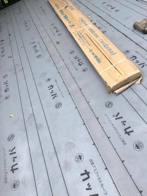 屋根 カバー工法工事 ルーフィング