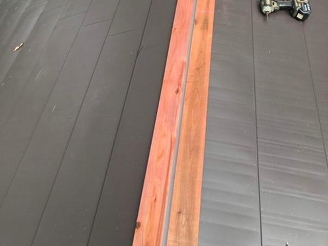 屋根 カバー工法工事 貫板