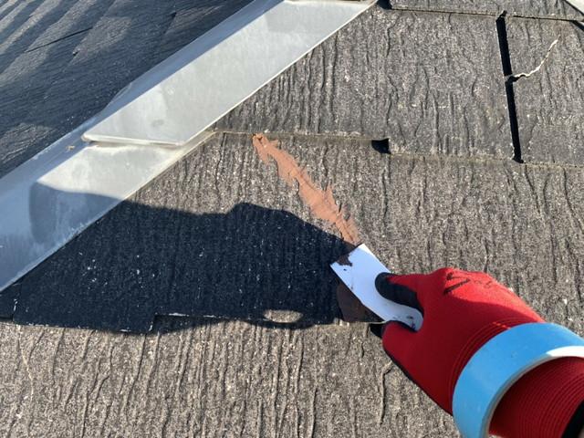 屋根 化粧スレート ヒビ補修 均し
