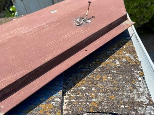 現地調査 化粧スレート 棟板金 釘浮き