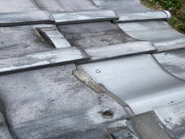 屋根 和瓦 劣化 割れ