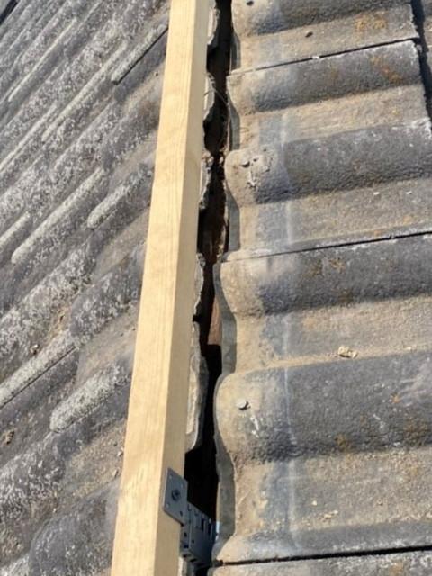 屋根の工事