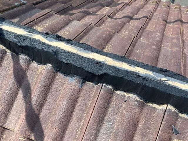 屋根 棟 漆喰工事 棟取り直し工事